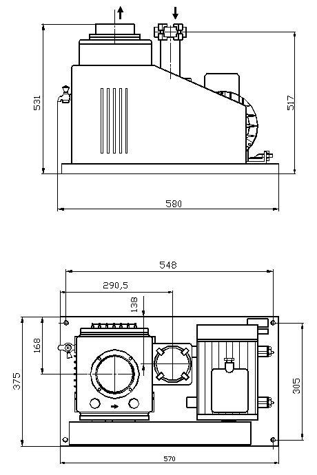 Vývěva RV 40/21-KF