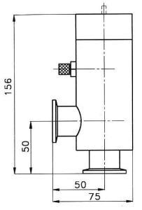 Ventil vakuový rohový VR 25 P